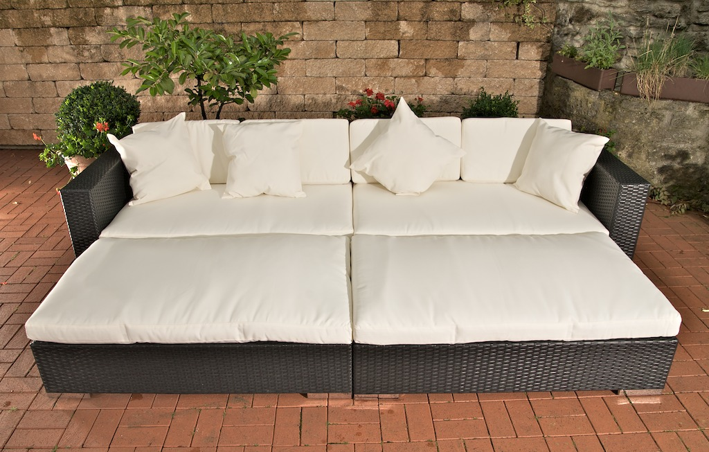 loungebed daybed lounge sofa polyrattan sonnenliegen. Black Bedroom Furniture Sets. Home Design Ideas